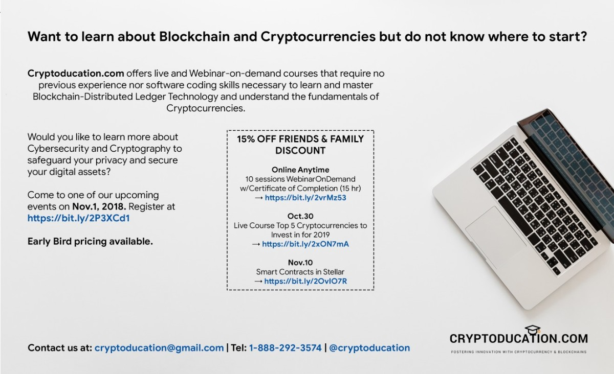 Cryptoducation Advertisement
