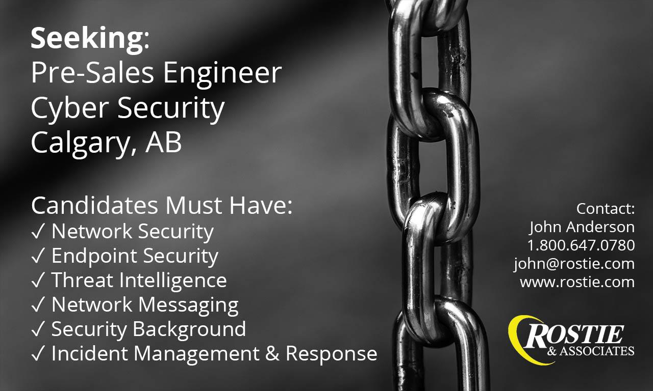 Cyber Security Job in Calgary Alberta
