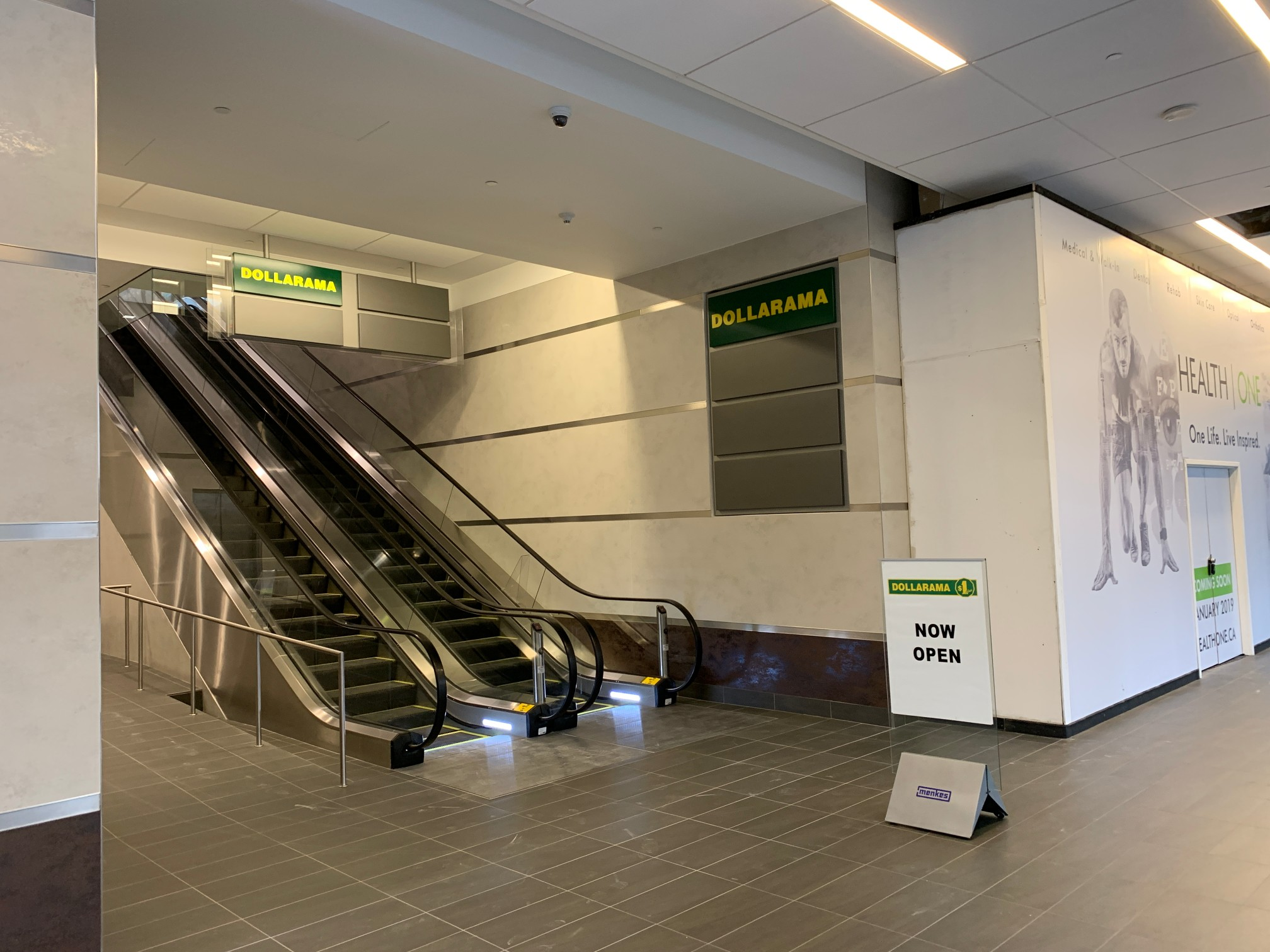 Winter Rostie Group Scoop Dollarama Escalator Location