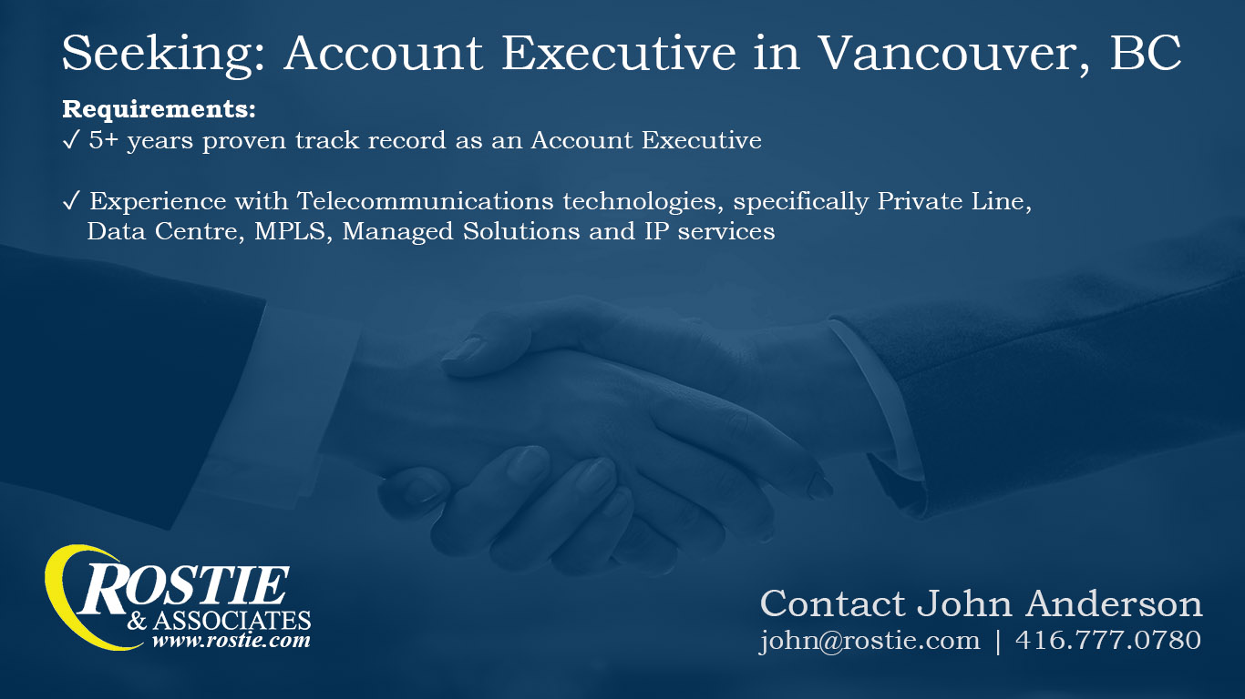 Hiring Account Executive in Vancouver