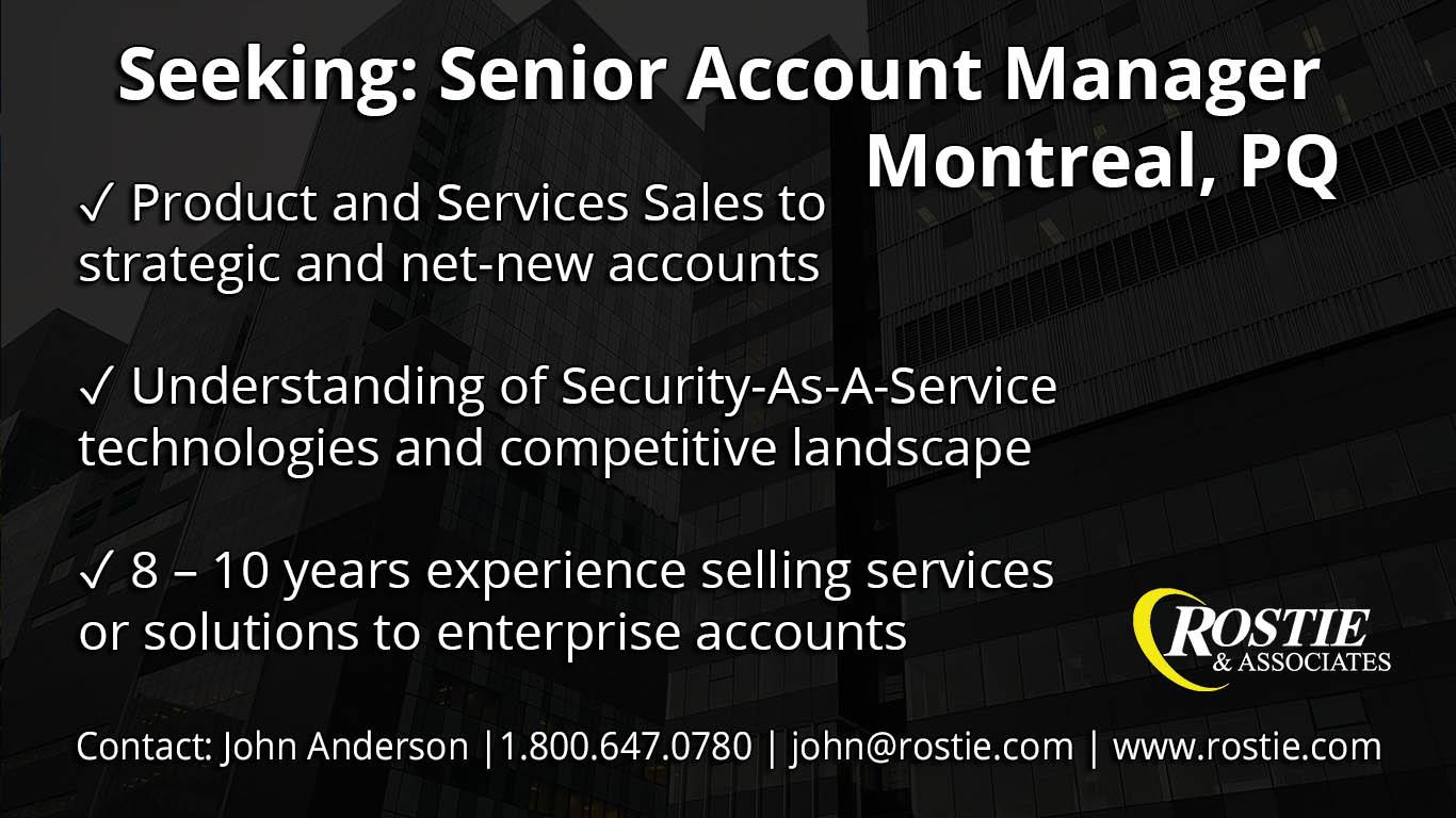 Senior Account Manager, Montreal, PQ