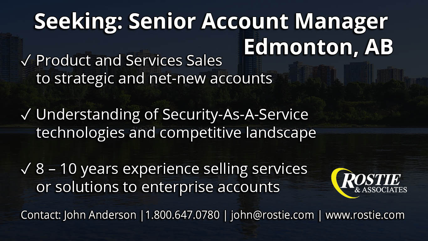Senior Account Manager Edmonton, AB