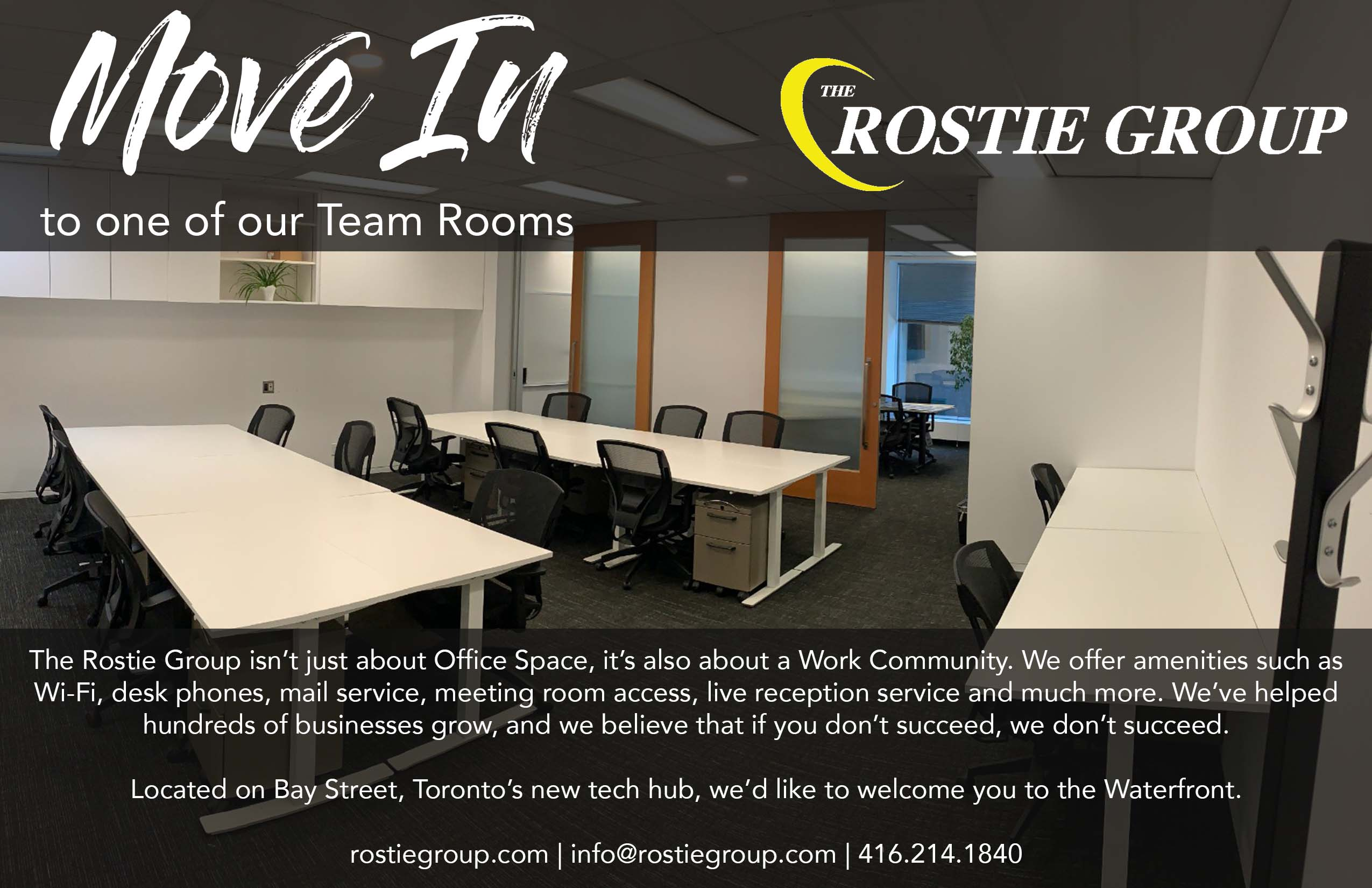 Rostie Group Team Rooms Available Ad