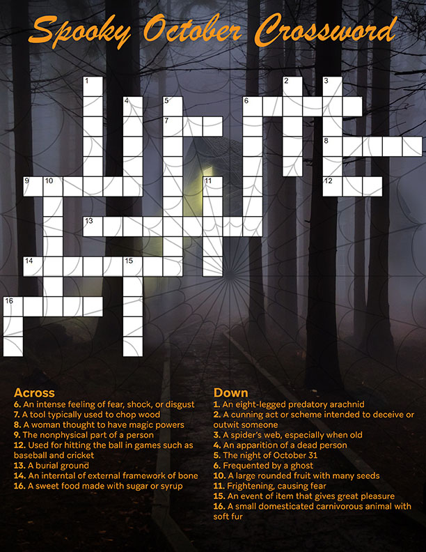 Rostie Group October Scoop Spooky Crossword