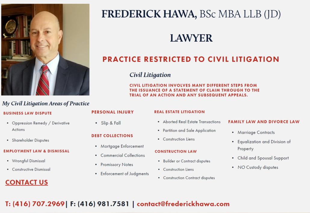 Frederick Hawa BSc MBA LLB (JD) Lawyer