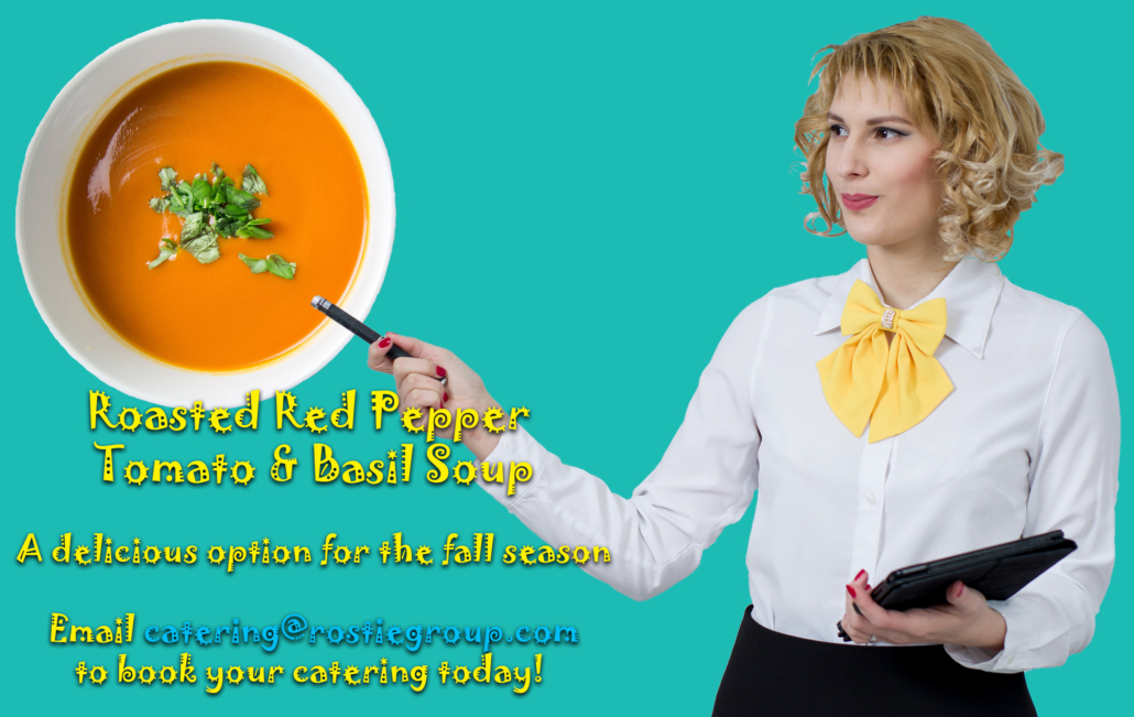 Rostie Group Scoop Catering Red Pepper Soup