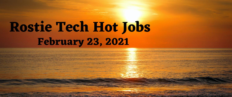 Rostie Tech Hot Jobs: February 23rd, 2021